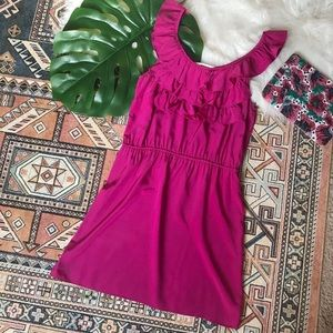 Amanda Uprichard Fuchsia Silk Cocktail Dress - S